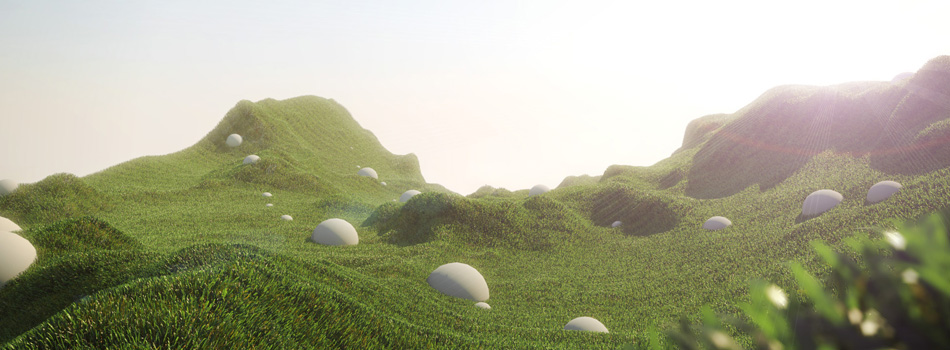product feature: V-Ray pattern - grass asset