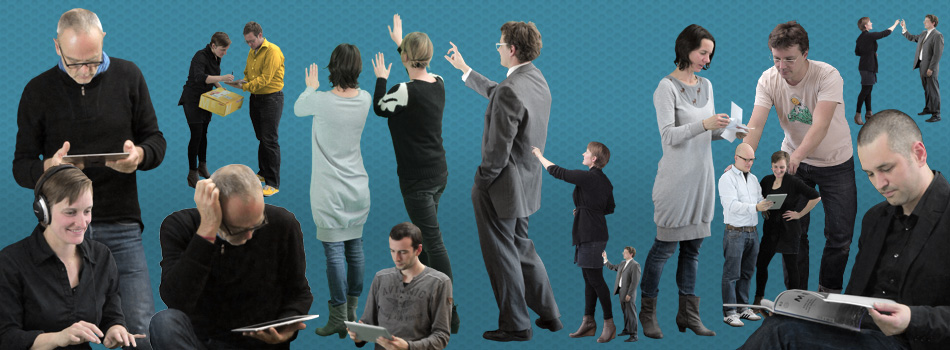 cutout people – office and interaction