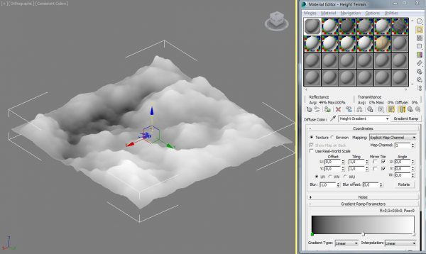 Generating a heightmap in Max as greyscale (16Bit)